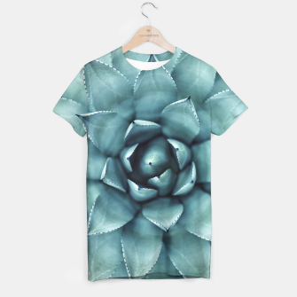 Miniaturka Turquoise cactus T-shirt, Live Heroes