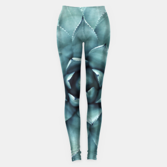 Thumbnail image of Turquoise cactus Leggings, Live Heroes