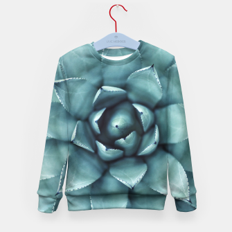 Thumbnail image of Turquoise cactus Kid's Sweater, Live Heroes