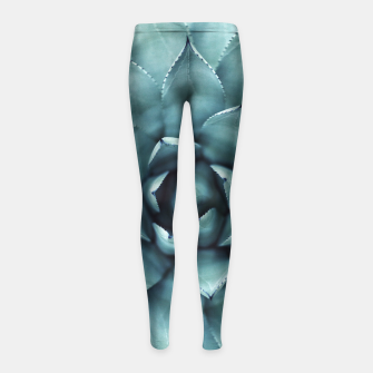 Miniaturka Turquoise cactus Girl's Leggings, Live Heroes