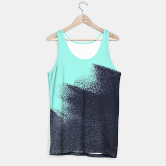 Miniatur Black and blue stain Tank Top, Live Heroes