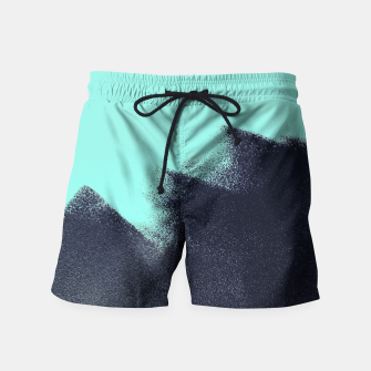 Miniatur Black and blue stain Swim Shorts, Live Heroes