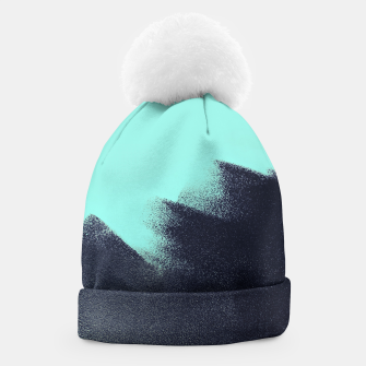 Miniaturka Black and blue stain Beanie, Live Heroes