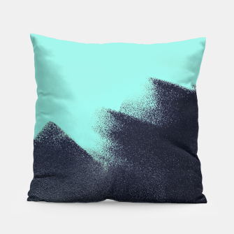 Miniaturka Black and blue stain Pillow, Live Heroes