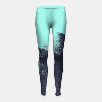 Imagen en miniatura de Black and blue stain Girl's Leggings, Live Heroes
