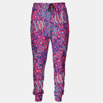 Thumbnail image of Funky Pink Psychedelic Zebra Print  Sweatpants, Live Heroes