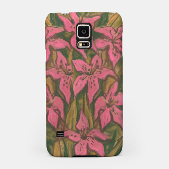 Thumbnail image of Pink lilies, floral art, pastel painting Samsung Case, Live Heroes