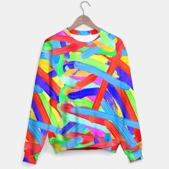 Thumbnail image of Colorful Finger Painting Sweater, Live Heroes
