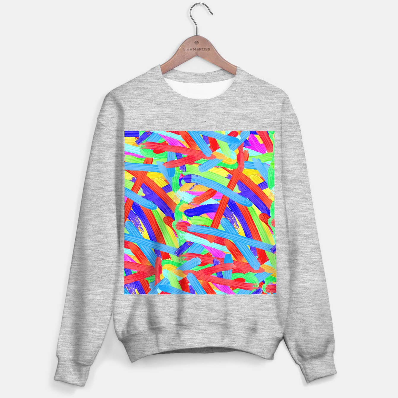 Image of Colorful Finger Painting Sweater regular - Live Heroes