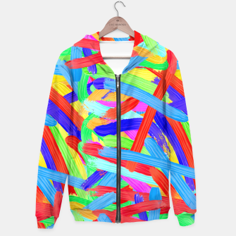 Thumbnail image of Colorful Finger Painting Hoodie, Live Heroes