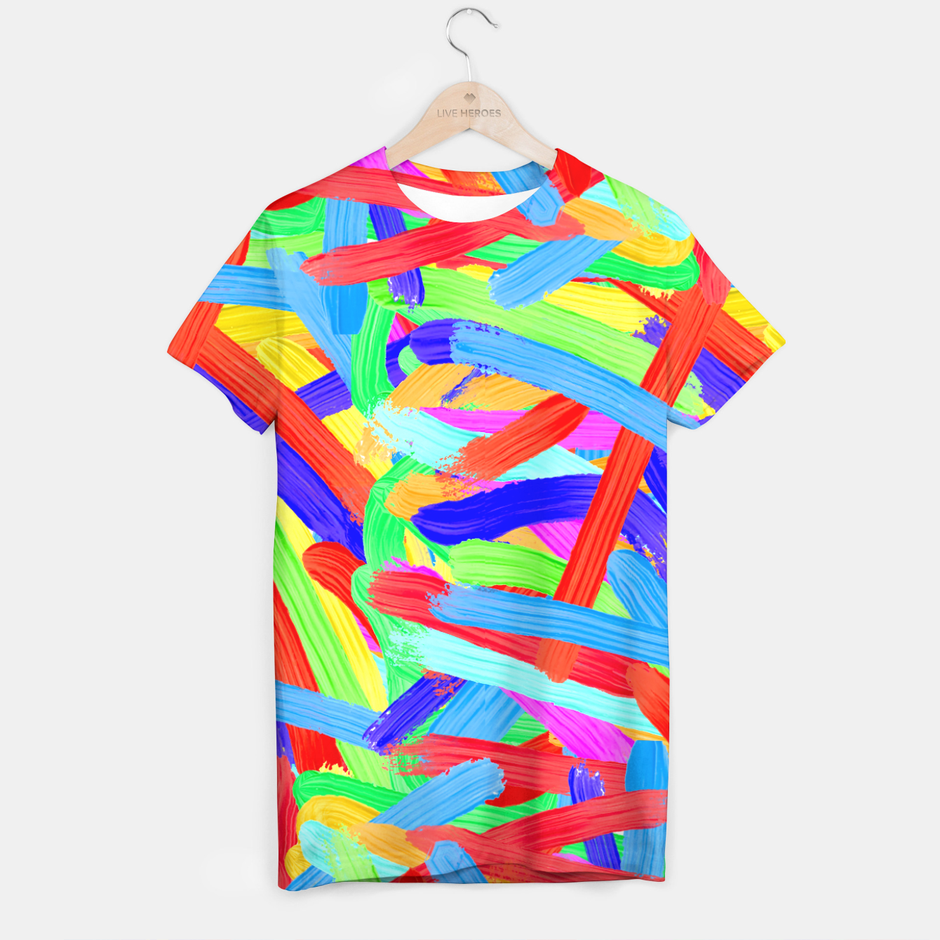 Image of Colorful Finger Painting T-shirt - Live Heroes