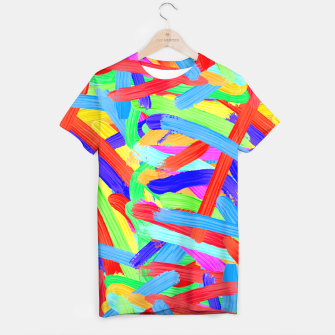 Thumbnail image of Colorful Finger Painting T-shirt, Live Heroes