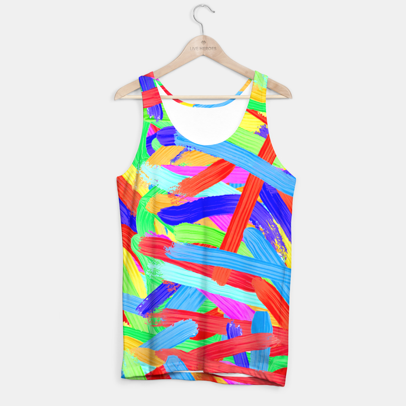 Image of Colorful Finger Painting Tank Top - Live Heroes