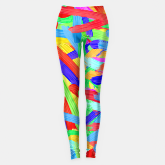 Thumbnail image of Colorful Finger Painting Leggings, Live Heroes