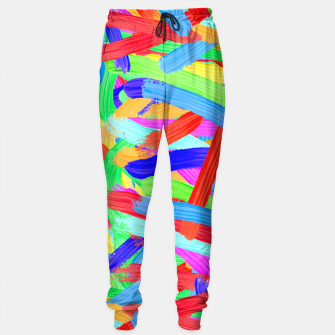 Thumbnail image of Colorful Finger Painting Sweatpants, Live Heroes