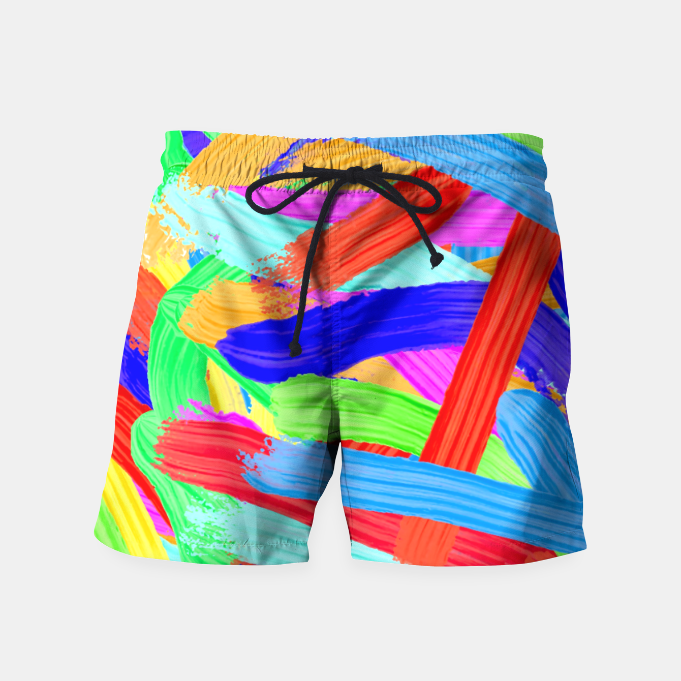 Image of Colorful Finger Painting Swim Shorts - Live Heroes