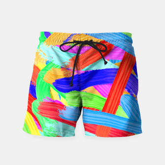 Thumbnail image of Colorful Finger Painting Swim Shorts, Live Heroes