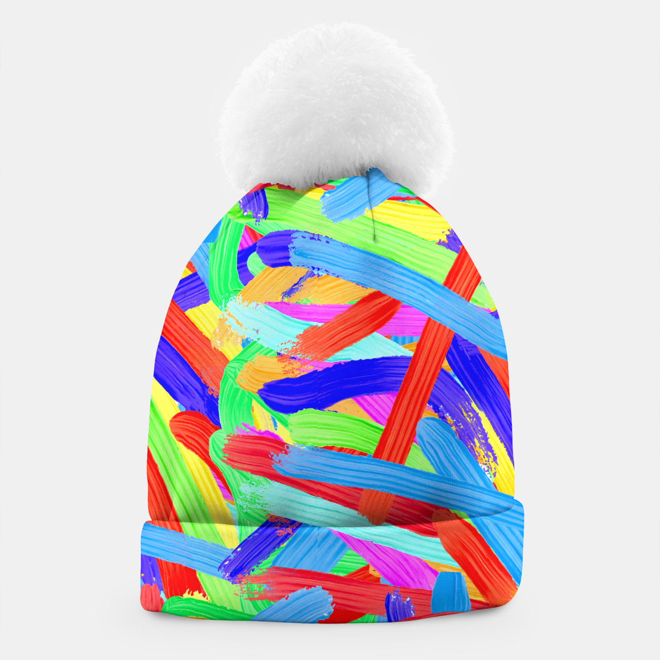 Image of Colorful Finger Painting Beanie - Live Heroes