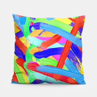 Thumbnail image of Colorful Finger Painting Pillow, Live Heroes