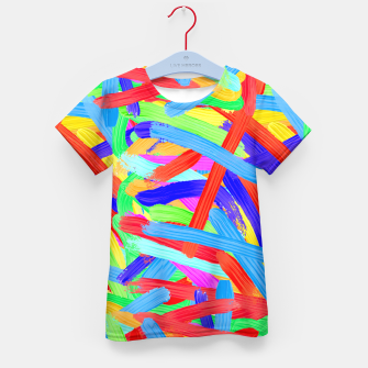 Thumbnail image of Colorful Finger Painting Kid's T-shirt, Live Heroes