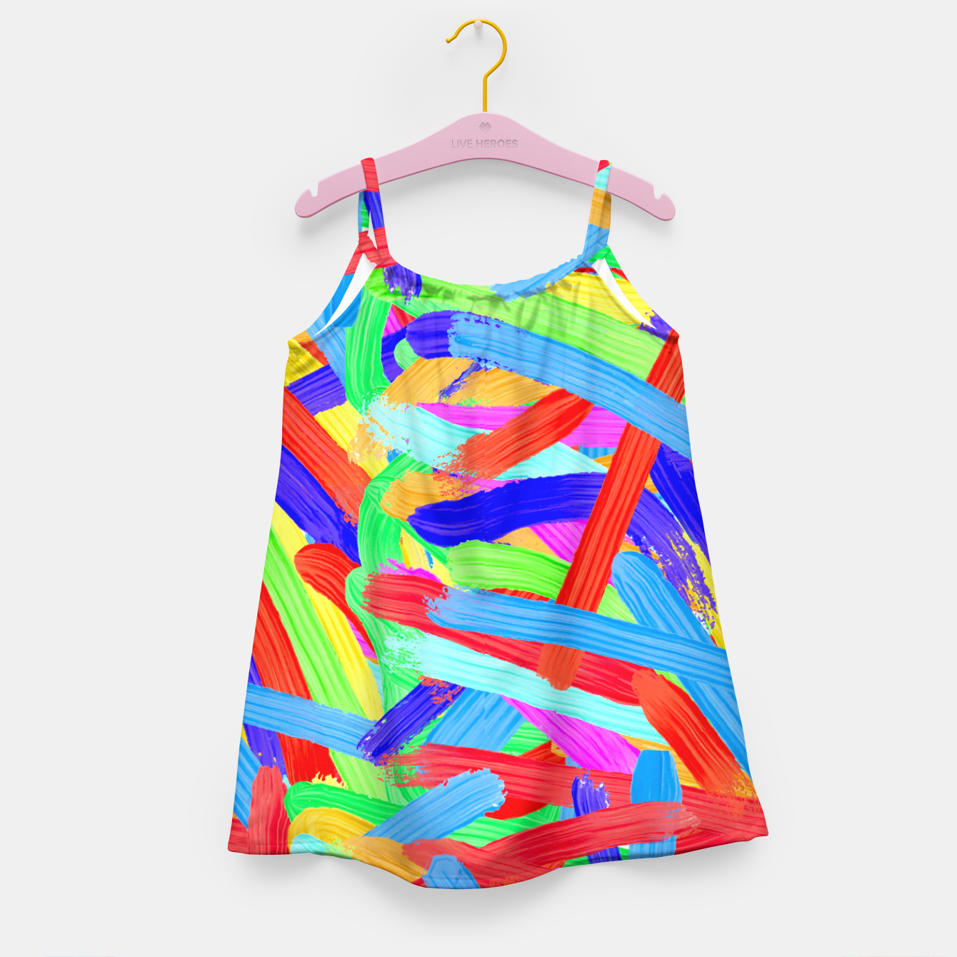 Image of Colorful Finger Painting Girl's Dress - Live Heroes