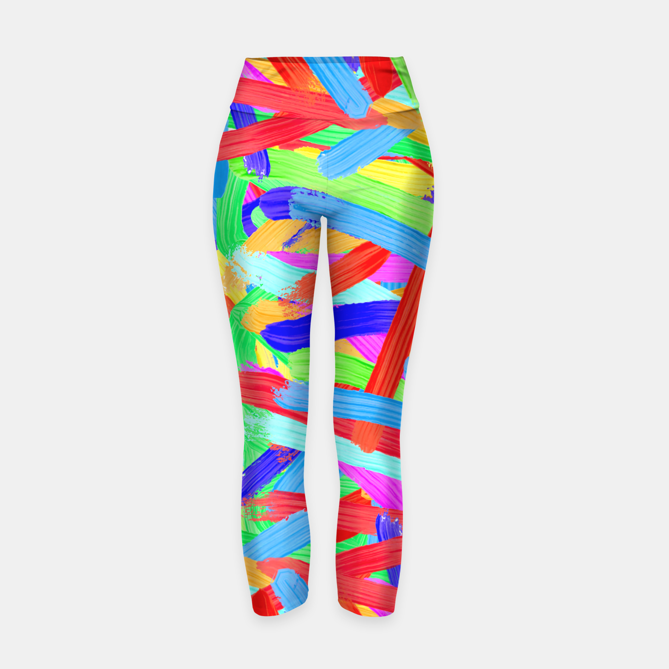 Image of Colorful Finger Painting Yoga Pants - Live Heroes
