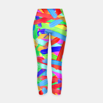 Thumbnail image of Colorful Finger Painting Yoga Pants, Live Heroes