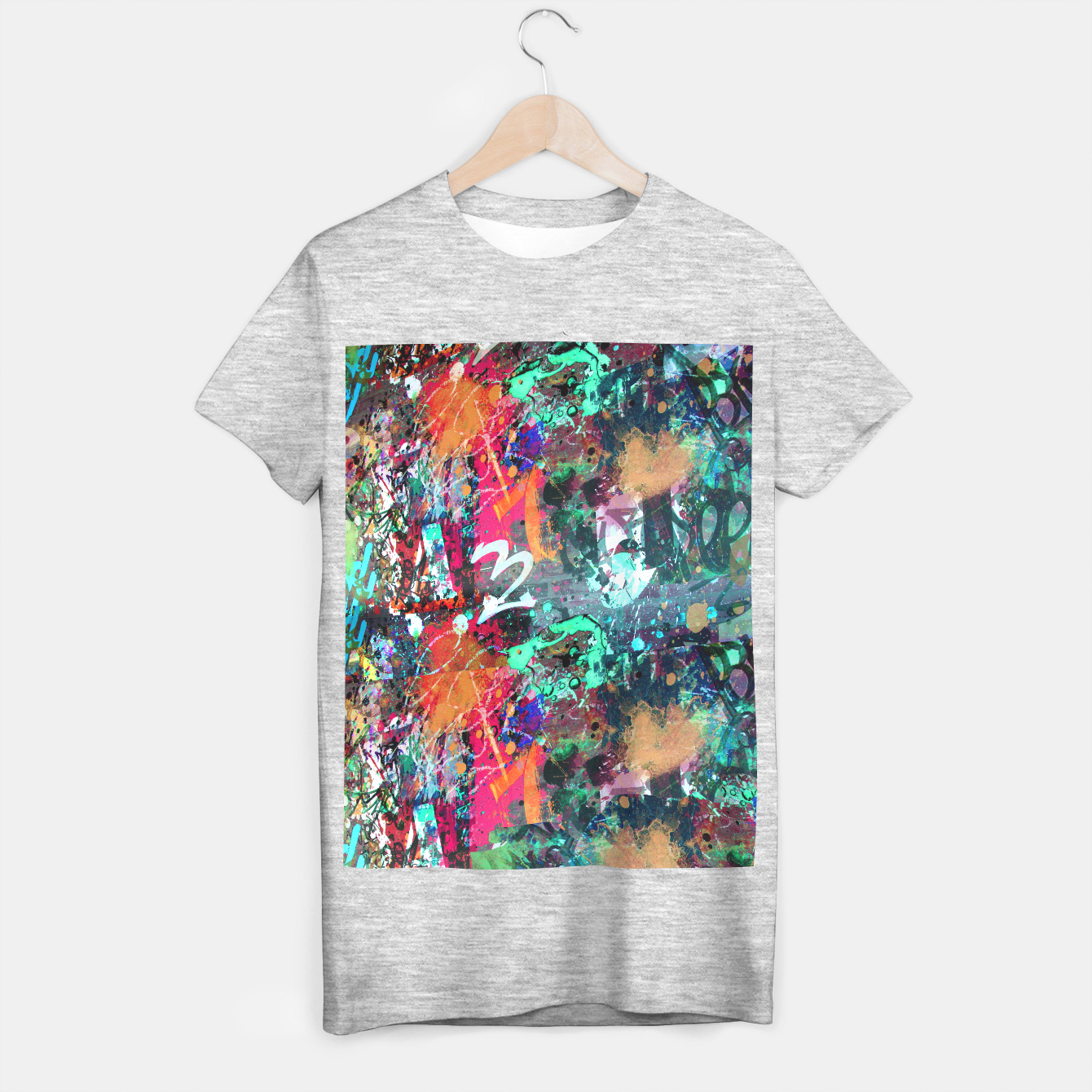 Image of Graffiti and Paint Splatter  T-shirt regular - Live Heroes