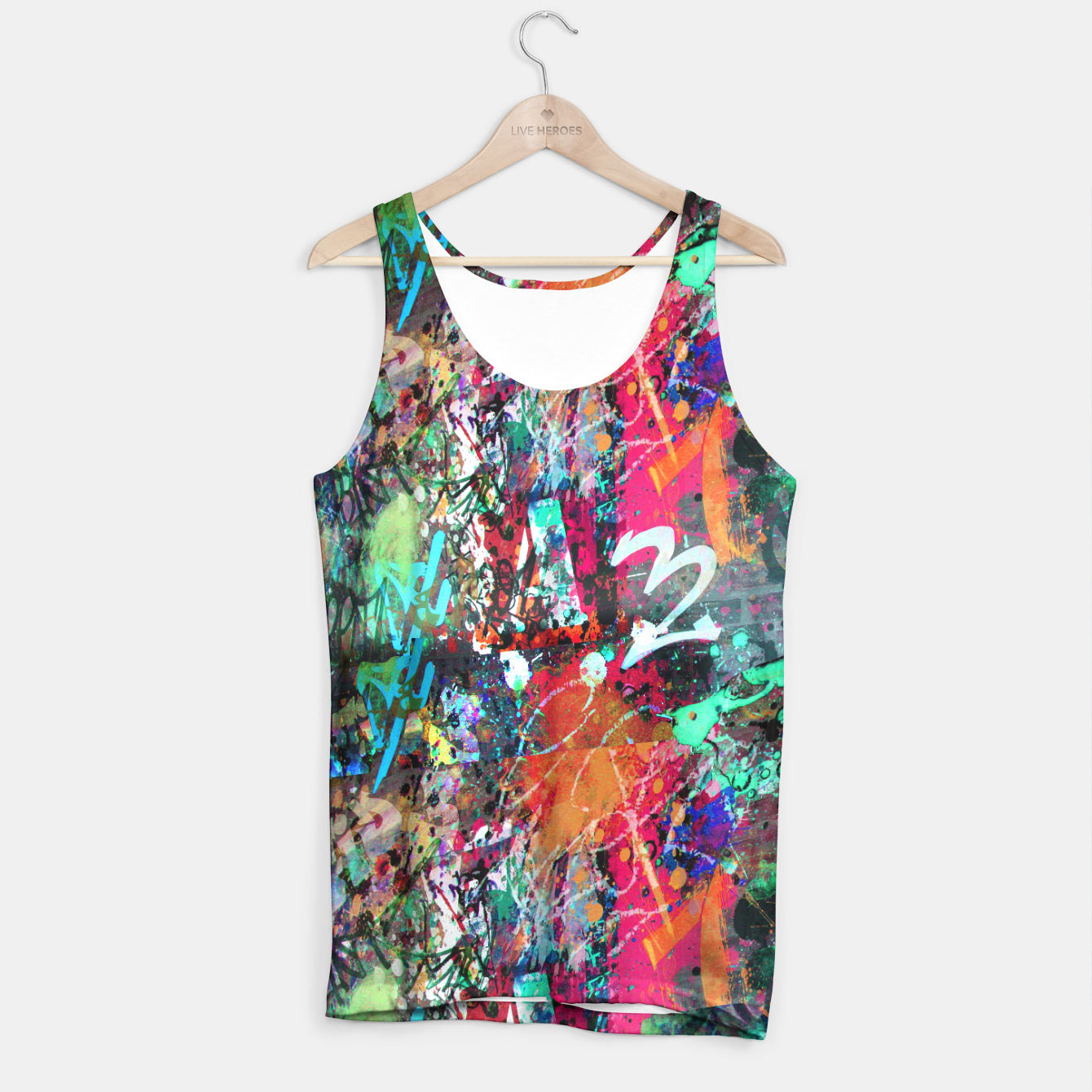 Image of Graffiti and Paint Splatter  Tank Top - Live Heroes