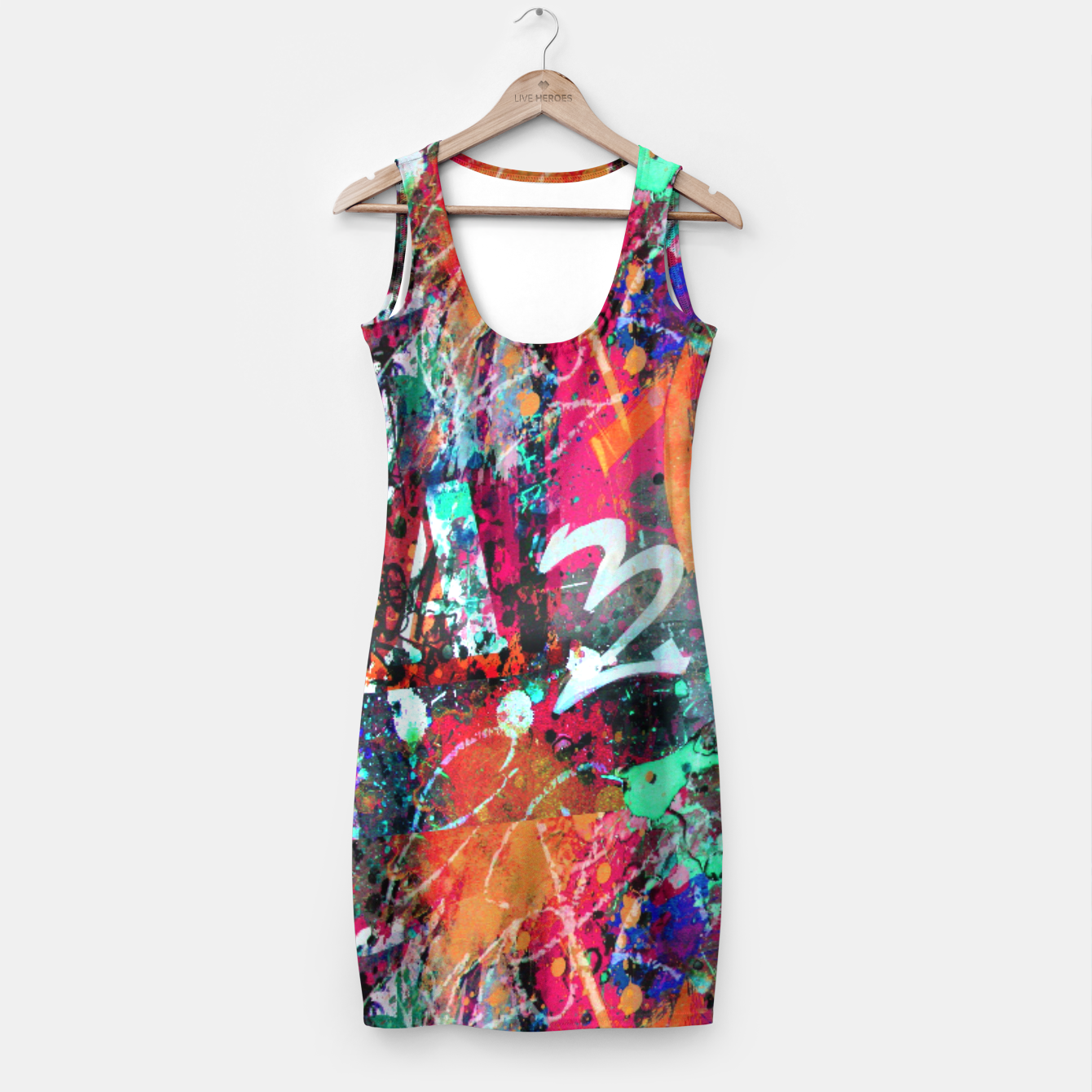 Image of Graffiti and Paint Splatter  Simple Dress - Live Heroes