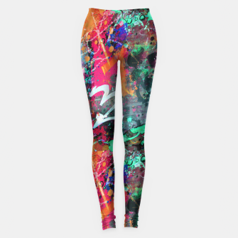 Thumbnail image of Graffiti and Paint Splatter  Leggings, Live Heroes