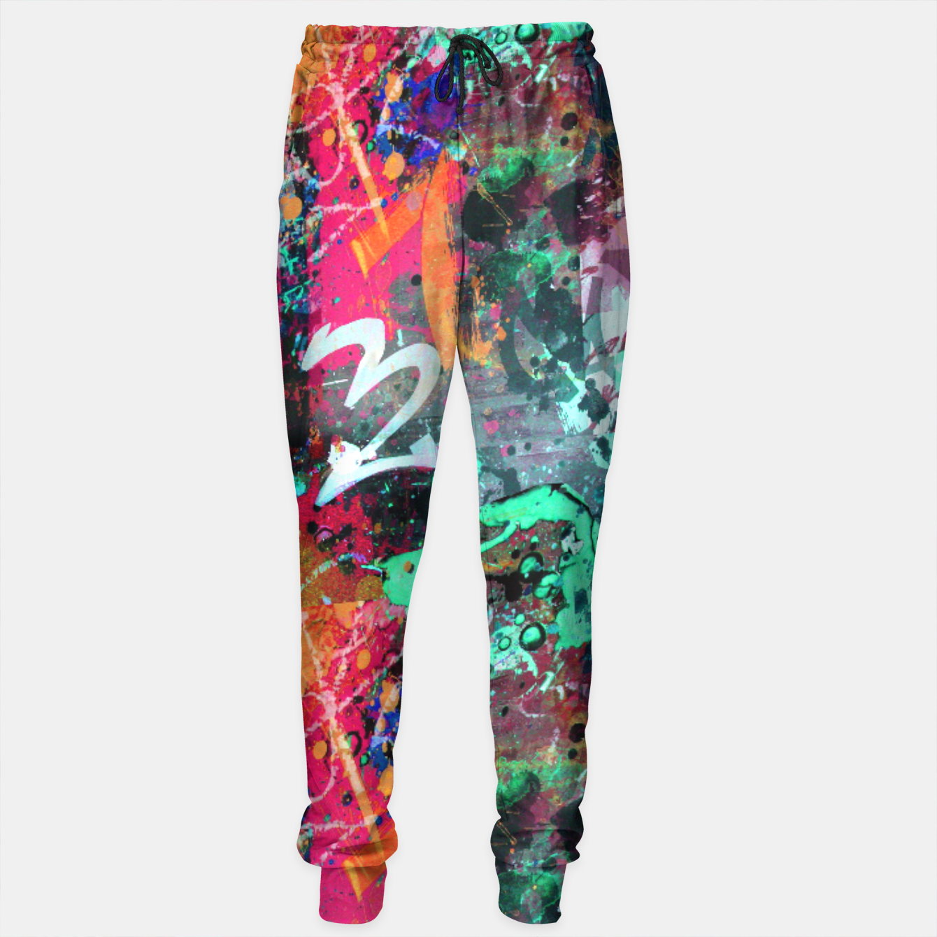 Image of Graffiti and Paint Splatter  Sweatpants - Live Heroes