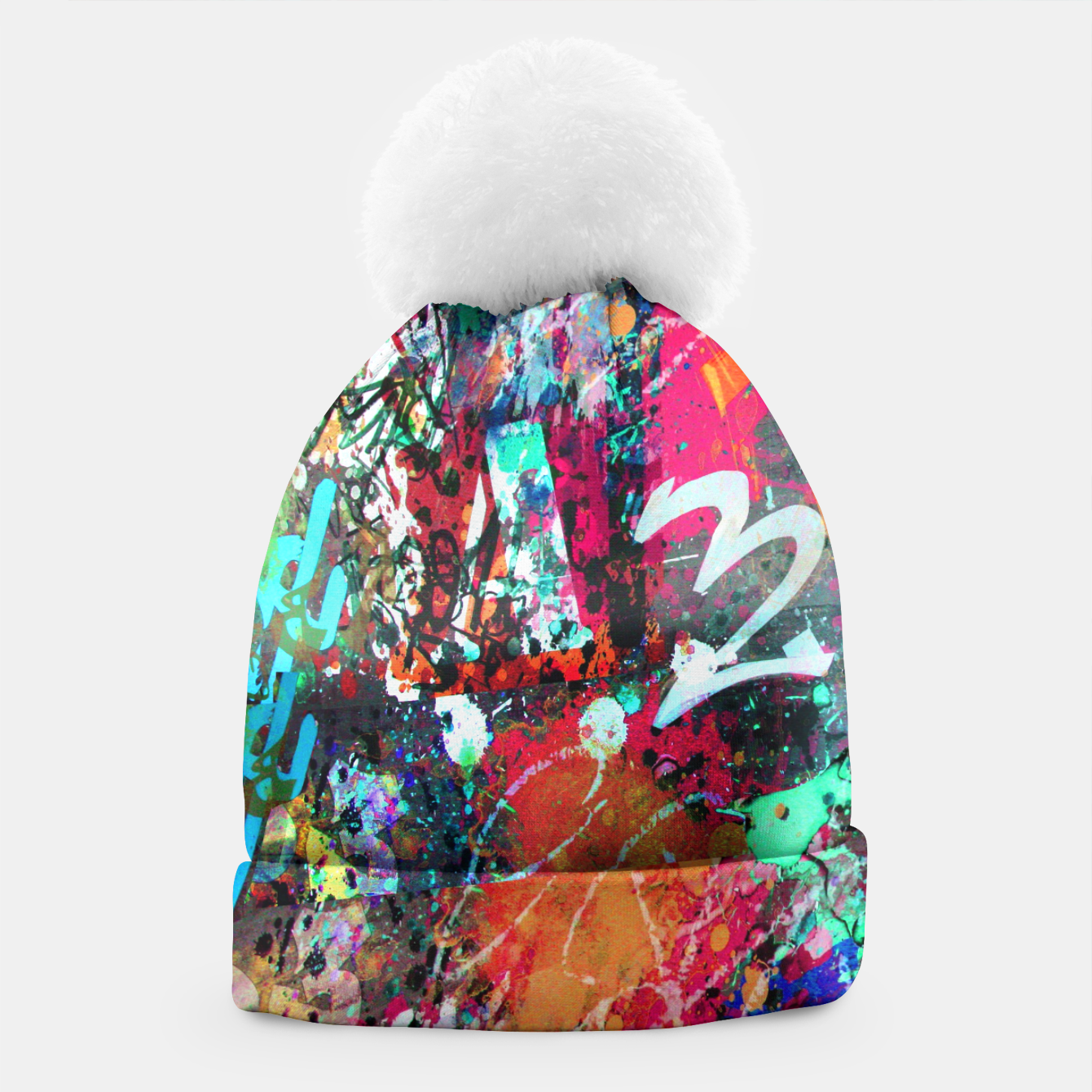 Image of Graffiti and Paint Splatter  Beanie - Live Heroes