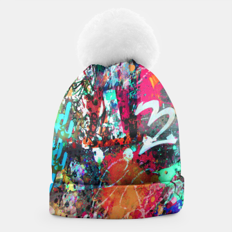 Thumbnail image of Graffiti and Paint Splatter  Beanie, Live Heroes