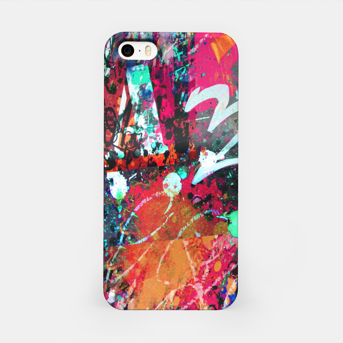 Image of Graffiti and Paint Splatter  iPhone Case - Live Heroes