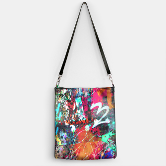 Thumbnail image of Graffiti and Paint Splatter  Handbag, Live Heroes