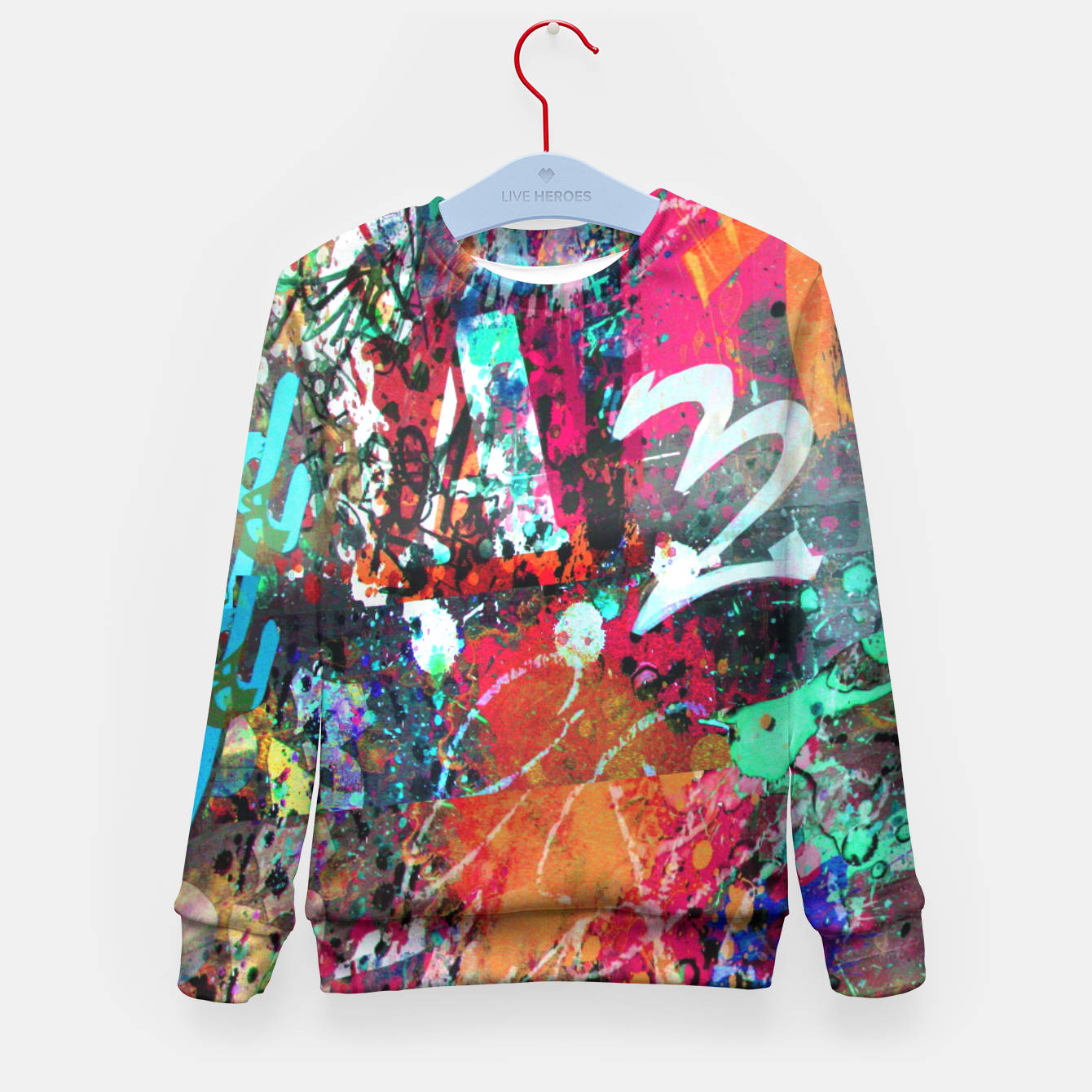 Image of Graffiti and Paint Splatter  Kid's Sweater - Live Heroes