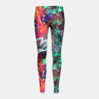 Thumbnail image of Graffiti and Paint Splatter  Girl's Leggings, Live Heroes