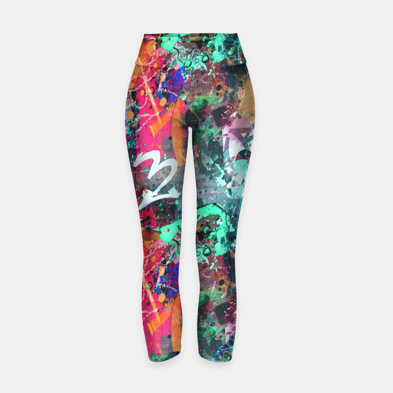 Image of Graffiti and Paint Splatter  Yoga Pants - Live Heroes