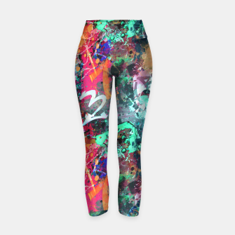 Thumbnail image of Graffiti and Paint Splatter  Yoga Pants, Live Heroes