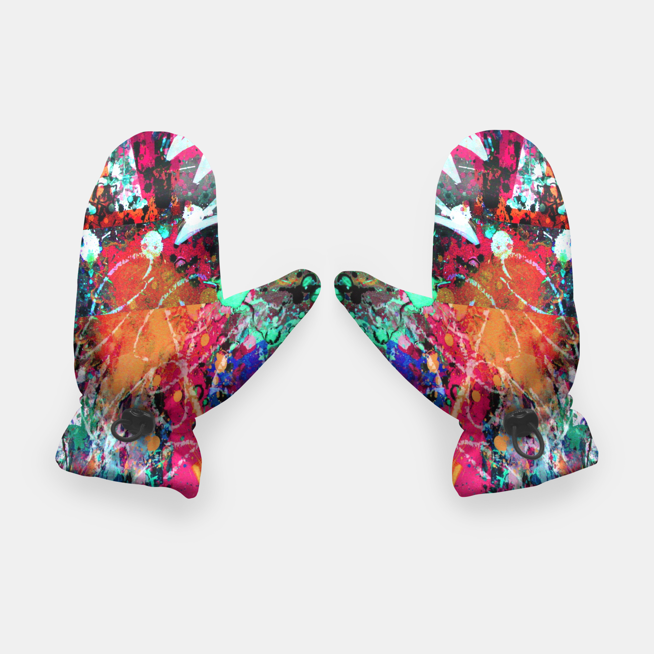 Image of Graffiti and Paint Splatter  Gloves - Live Heroes
