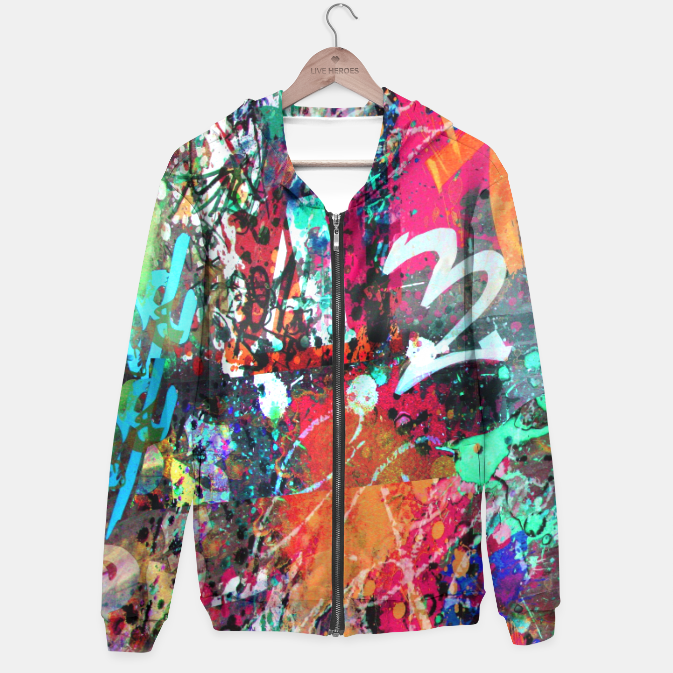 Image of Graffiti and Paint Splatter  Hoodie - Live Heroes