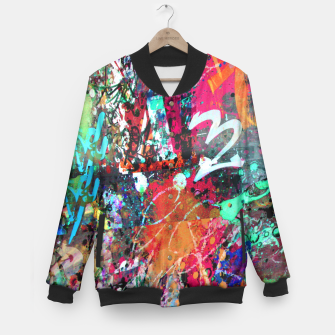 Thumbnail image of Graffiti and Paint Splatter  Baseball Jacket, Live Heroes