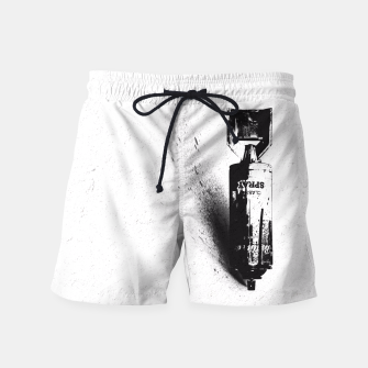 Thumbnail image of Weapon of Mass Creation Swim Shorts, Live Heroes