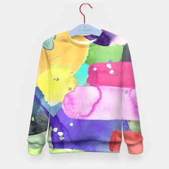 Thumbnail image of WATERCOLOR Kid's Sweater, Live Heroes