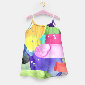 Thumbnail image of WATERCOLOR Girl's Dress, Live Heroes