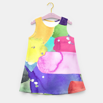 Thumbnail image of WATERCOLOR Girl's Summer Dress, Live Heroes