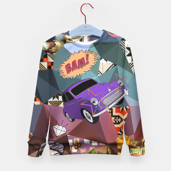 Thumbnail image of BAM Kid's Sweater, Live Heroes