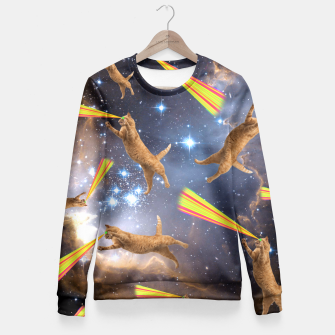 Miniatur SPACE CATS Fitted Waist Sweater, Live Heroes