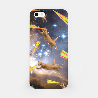 Miniatur SPACE CATS iPhone Case, Live Heroes
